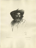 American:Western, WILLIAM HERBERT (BUCK) DUNTON (American 1878-1936). TheProspector. Lithograph on paper. 21.25in. x 16in.. Signed andda...