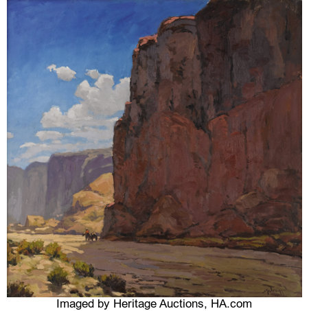 JOHN MODESITT (American b. 1955) The Great West Oil on canvas 24in. x 24in. Signed lower right ...