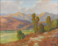 American:Impressionism, JOHN MODESITT (American b. 1955). California Hills. Oil oncanvas. 24in. x 30in.. Signed lower left. ...