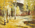 American:Western, FREMONT ELLIS (American 1897-1985). Autumn Aspens, 1951. Oilon canvas. 24in. x 30in.. Signed and dated lower left. Bo...