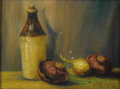 American:Western, BERT GEER PHILLIPS (American 1868-1956). Still Life with Onions. Oil on board. 12in. x 16in.. Inscribed lower right: T...