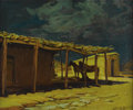 American:Western, HARRY EMERSON LEWIS (American 1892-1958). Moonlight on theRancho. Oil on canvas. 25in. x 30in.. Signed lower right. B...
