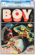 Golden Age (1938-1955):Superhero, Boy Comics #10 (Lev Gleason, 1943) CGC FN+ 6.5 Off-white to whitepages....