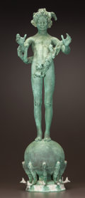 Fine Art - Sculpture, American:Antique (Pre 1900), FREDERICK WILLIAM MACMONNIES (American, 1863-1937). Pan ofRohallion, 1890. Bronze with verdigris patina. 30 inches(76....