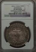 Chile, Chile: Republic Peso 1833 So-I XF Details (Surface Hairlines) NGC,...
