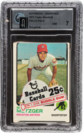 Baseball Cards:Unopened Packs/Display Boxes, 1973 Topps Baseball Cello Pack GAI NM 7 With Stargell on Back....