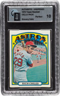 Baseball Cards:Unopened Packs/Display Boxes, 1972 Topps Baseball Grocery Cello GAI Perfect 10. ...