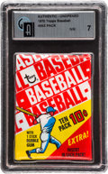 Baseball Cards:Unopened Packs/Display Boxes, 1970 Topps Baseball Wax Pack GAI NM 7. ...