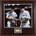 Autographs:Others, 1940's-90's Babe Ruth & Ted Williams Signed Display....