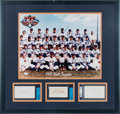 Autographs:Others, 1969 New York Mets Team Signed Display....