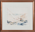 Miscellaneous Collectibles:General, 1986 LeRoy Neiman Original Watercolor of America's Cup....