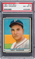 Baseball Cards:Singles (1940-1949), 1941 Play Ball Arky Vaughan #10 PSA NM-MT 8 - Only Two Higher. ...