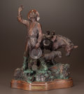 Fine Art - Sculpture, American:Contemporary (1950 to present), LORENZO E. GHIGLIERI (American, b. 1931). Casey's Gold II,1982. Bronze with brown and verdigris patina. 18 inches (45.7...