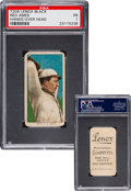 Baseball Cards:Singles (Pre-1930), 1909-11 T206 Lenox Black Red Ames, Hands Over Head PSA Poor 1 - TheOnly Confirmed SGC or PSA Graded Example! ...