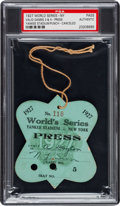 Baseball Collectibles:Others, 1927 New York Yankees World Series Press Pass. ...