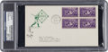 Autographs:Others, 1939 Ty Cobb Signed Baseball Centennial First Day Cover....