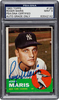 Autographs:Sports Cards, 1963 Topps Roger Maris #120, Signed, PSA/DNA Mint 9....