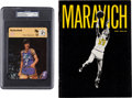 """Autographs:Sports Cards, Circa 1979 """"Pistol Pete"""" Maravich Signed Sportscaster Trading Card,PSA/DNA Mint 9...."""