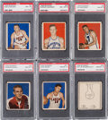 Basketball Cards:Lots, 1948 Bowman Basketball High Number PSA NM-MT 8 Collection (6). ...