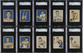 Basketball Cards:Lots, 1948 Bowman Basketball High Numbers Blue/Gray Variation SGC Group(10). ...