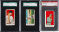 Baseball Cards:Lots, 1909 E92 Nadja Caramels Baseball Graded Trio (3). ...