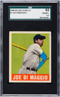 Baseball Cards:Singles (1940-1949), 1948 Leaf Joe DiMaggio #1 SGC 82 EX/NM+ 6.5. ...