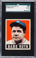 Baseball Cards:Singles (1940-1949), 1948 Leaf Babe Ruth #3 SGC 80 EX/NM 6....