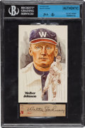 Autographs:Others, Circa 1940 Walter Johnson Signed Cut....