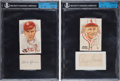 Autographs:Others, Circa 1950 Tris Speaker & Rogers Hornsby Signed Cut DisplaysLot of 2....