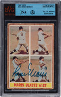 """Autographs:Sports Cards, Signed 1962 Topps Roger Maris """"Maris Blasts 61st"""" #313 BVG/JSAAuthentic. ..."""