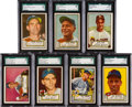 Baseball Cards:Lots, 1952 Topps Baseball High Numbers SGC Graded Collection (7). ...