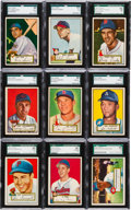 Baseball Cards:Lots, 1952 Topps Baseball SGC Graded Collection (25). ...