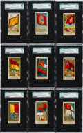 """Non-Sport Cards:Sets, 1890 N10 Allen & Ginter """"Flags of All Nations (2nd Series)"""" Complete Set (50). ..."""