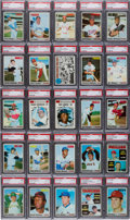 Baseball Cards:Sets, 1970 Topps Baseball High Grade PSA Partial Set (374/720) - With 350PSA Mint 9's. ...