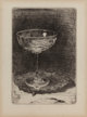 JAMES ABBOTT MCNEILL WHISTLER (American, 1834-1903) The Wine Glass, 1859 Etching on paper 3-1/4 x 2-1/4 inches (8.3 x...