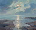 Fine Art - Painting, American:Modern  (1900 1949)  , FREDERICK JUDD WAUGH (American, 1861-1940). The Risen Moon,1926. Oil on canvas. 25 x 30 inches (63.5 x 76.2 cm). Signed...(Total: 2 Items)