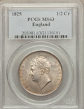 Great Britain, Great Britain: George IV 1/2 Crown 1825 MS63 PCGS,...