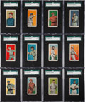 Baseball Cards:Sets, 1910 E93 Standard Caramel SGC Graded Partial Set (19/30). ...