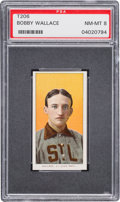 Baseball Cards:Singles (Pre-1930), 1909-11 T206 Piedmont Bobby Wallace PSA NM-MT 8. ...