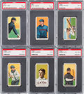 Baseball Cards:Lots, 1909-11 T206 White Borders PSA Graded Collection (6). ...