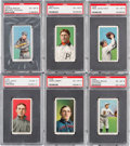 Baseball Cards:Lots, 1909-11 T206 White Borders PSA EX-MT 6 Collection (6). ...