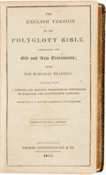 Books:Religion & Theology, [Bible] The English Version of the Polyglott Bible, Containing the Old and New Testaments; with the Marginal Readings. ...