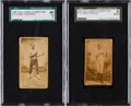 Boxing Cards:General, 1887 N174 Old Judge Boxers SGC Graded Pair (2) With Rare AustralianCard. ...