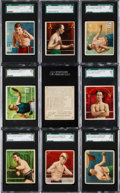 """Boxing Cards:General, Very Rare 1910 T218 Tolstoi """"Champion Athletes and Prizefighters""""SGC Graded Collection (16). ..."""