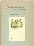 Books:Americana & American History, Joseph Karl Menn. The Large Slaveholders of Louisiana. New Orleans: Pelican Publishing, 1864. Quarto. Publisher's cl...