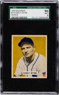 Baseball Cards:Singles (1940-1949), 1949 Bowman Early Wynn #110 SGC 96 Mint 9 - The Finest SGC Example! ...