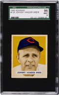 Baseball Cards:Singles (1940-1949), 1949 Bowman Johnny Vander Meer #128 SGC 96 Mint 9 - Pop Two, NoneHigher. ...