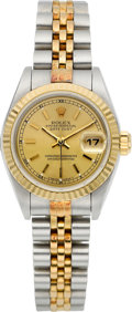 Timepieces:Wristwatch, Rolex Lady's Two Tone Oyster Perpetual Datejust, circa 1995. ...