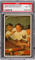 Baseball Cards:Singles (1950-1959), 1953 Bowman Color Berra, Bauer, Mantle #44 PSA NM-MT 8....