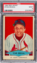 Baseball Cards:Singles (1950-1959), 1954 Red Heart Stan Musial PSA Mint 9 - None Higher....